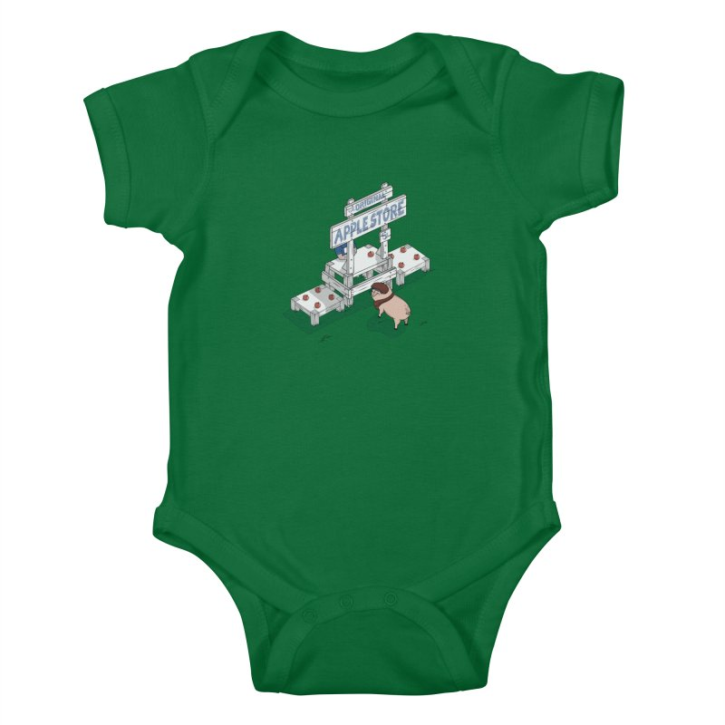 The Original Apple Store Kids Baby Bodysuit by wilbury tees
