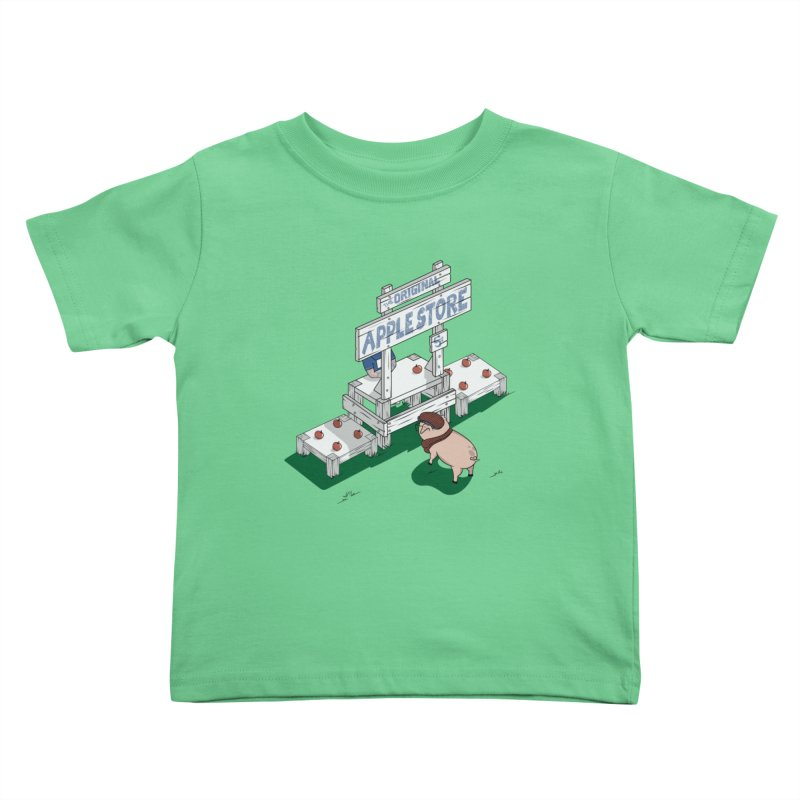 The Original Apple Store Kids Toddler T-Shirt by wilbury tees