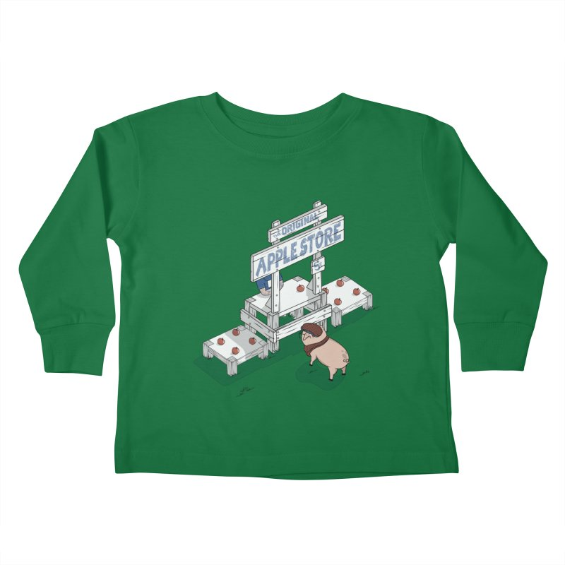 The Original Apple Store Kids Toddler Longsleeve T-Shirt by wilbury tees
