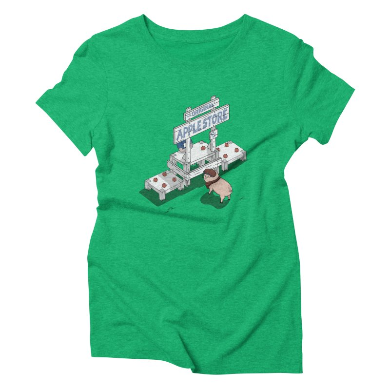 The Original Apple Store Women's Triblend T-Shirt by wilbury tees
