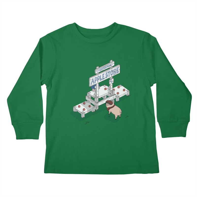 The Original Apple Store Kids Longsleeve T-Shirt by wilbury tees