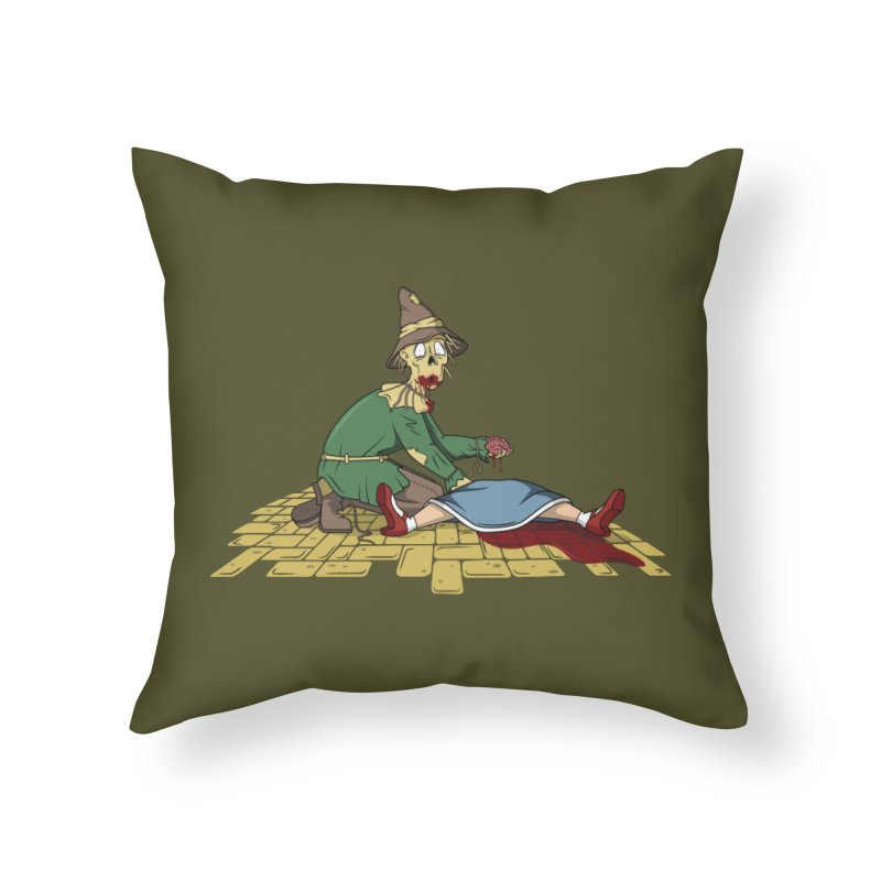 If I Only Had Some Brains Home Throw Pillow by wilbury tees