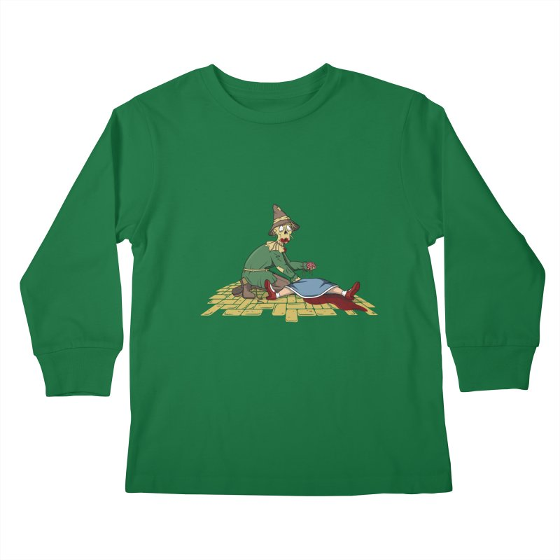 If I Only Had Some Brains Kids Longsleeve T-Shirt by wilbury tees