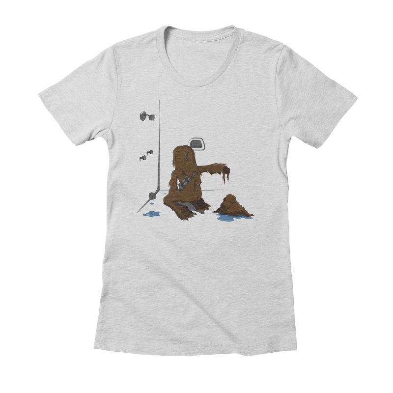 In A Shower Far Far Away Women's Fitted T-Shirt by wilbury tees