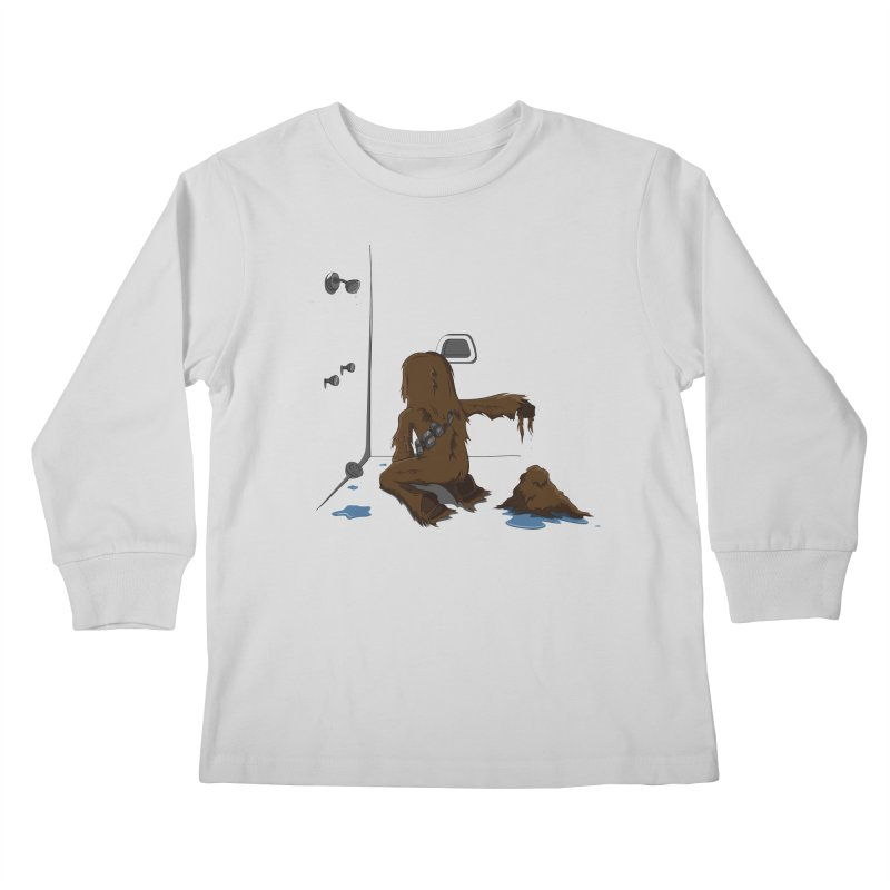 In A Shower Far Far Away Kids Longsleeve T-Shirt by wilbury tees