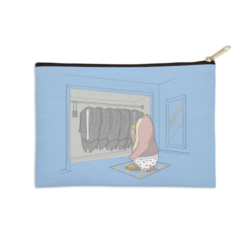 Penguin Suit Accessories Zip Pouch by wilbury tees