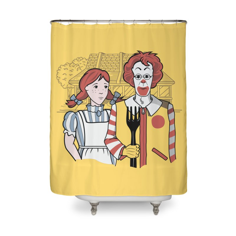 Old McDonald Home Shower Curtain by wilbury tees
