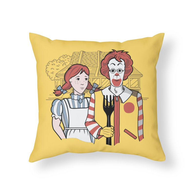 Old McDonald Home Throw Pillow by wilbury tees