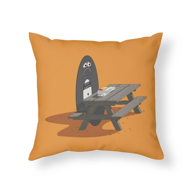 Solo Album Home Throw Pillow by wilbury tees