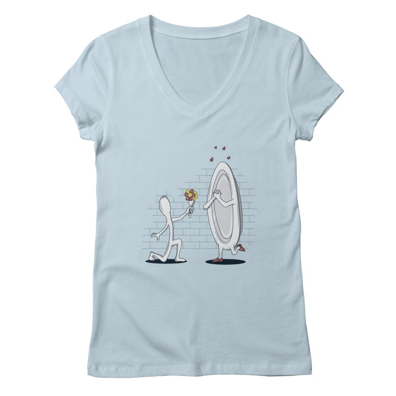 Run Away With Me Women's V-Neck by wilbury tees