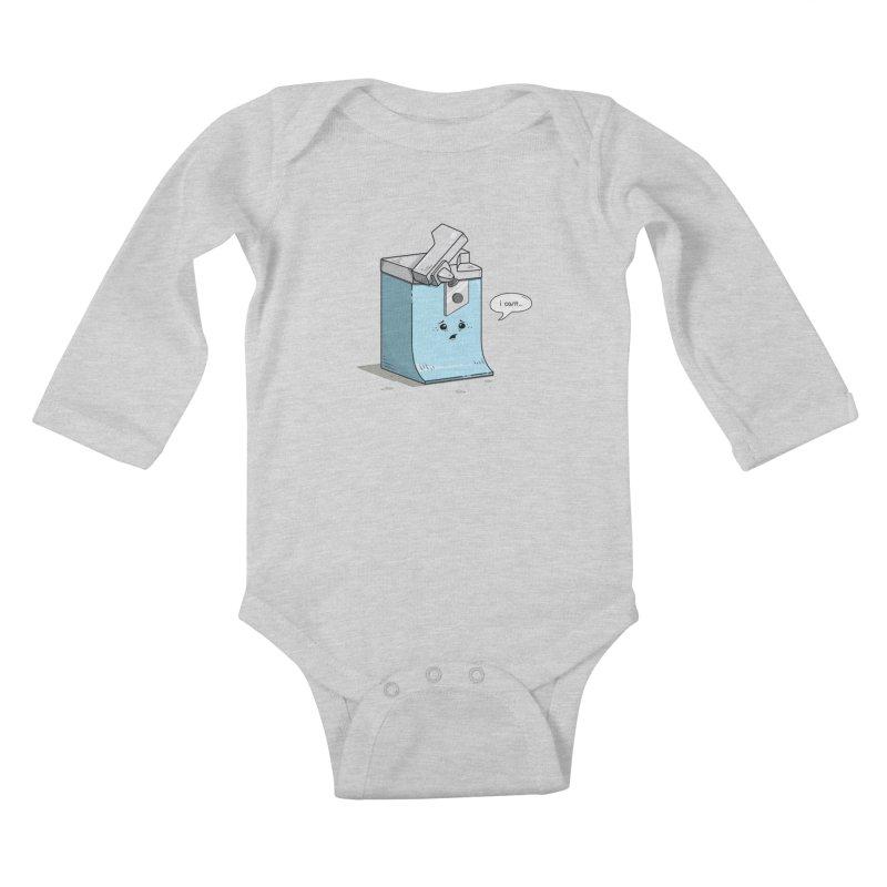 Can't Opener Kids Baby Longsleeve Bodysuit by wilbury tees