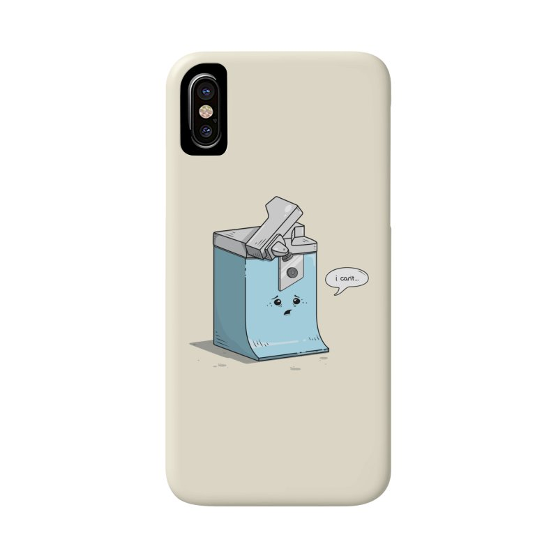 Can't Opener Accessories Phone Case by wilbury tees