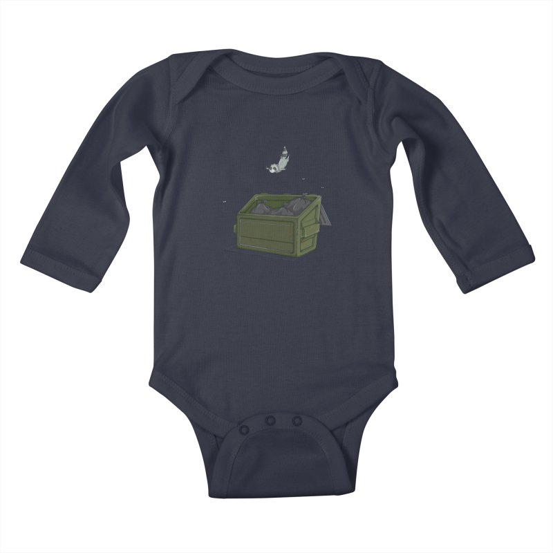World Class Dumpster Diver Kids Baby Longsleeve Bodysuit by wilbury tees