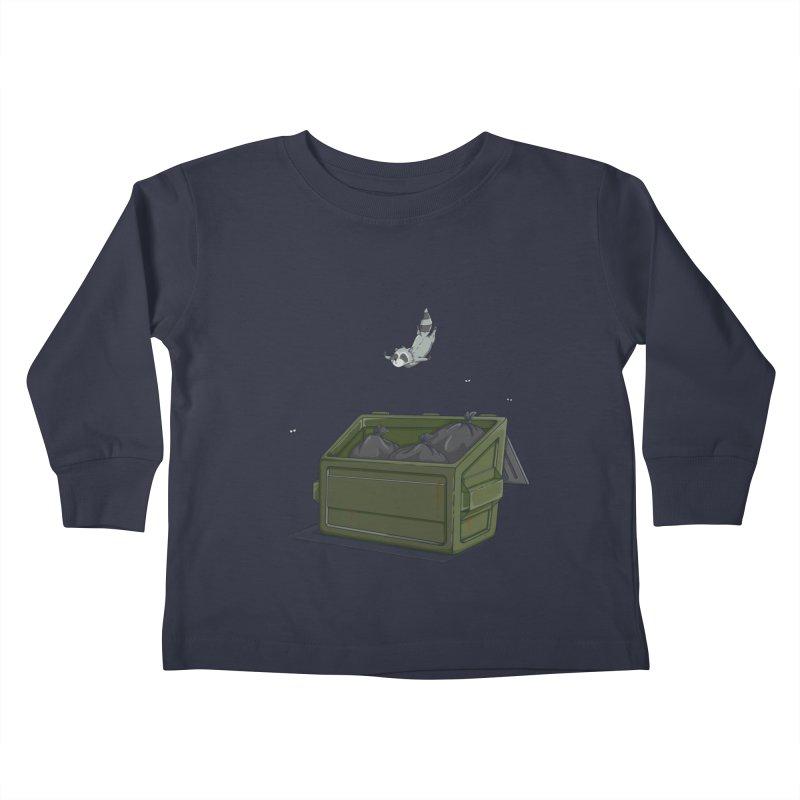 World Class Dumpster Diver Kids Toddler Longsleeve T-Shirt by wilbury tees