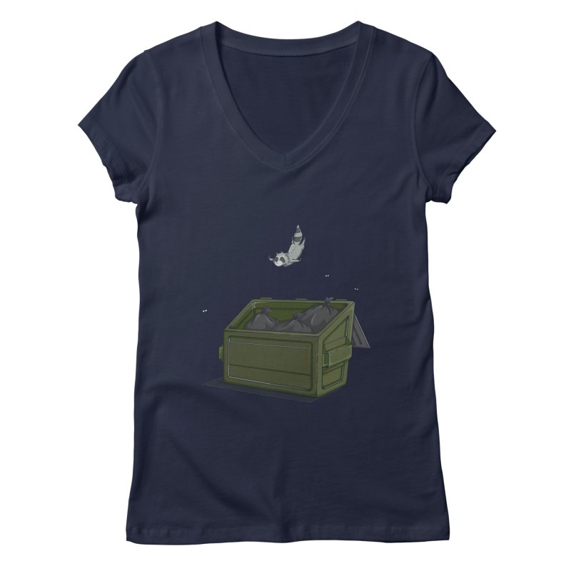 World Class Dumpster Diver Women's V-Neck by wilbury tees