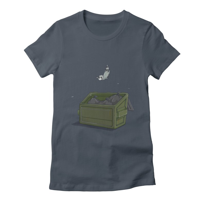 World Class Dumpster Diver Women's Fitted T-Shirt by wilbury tees
