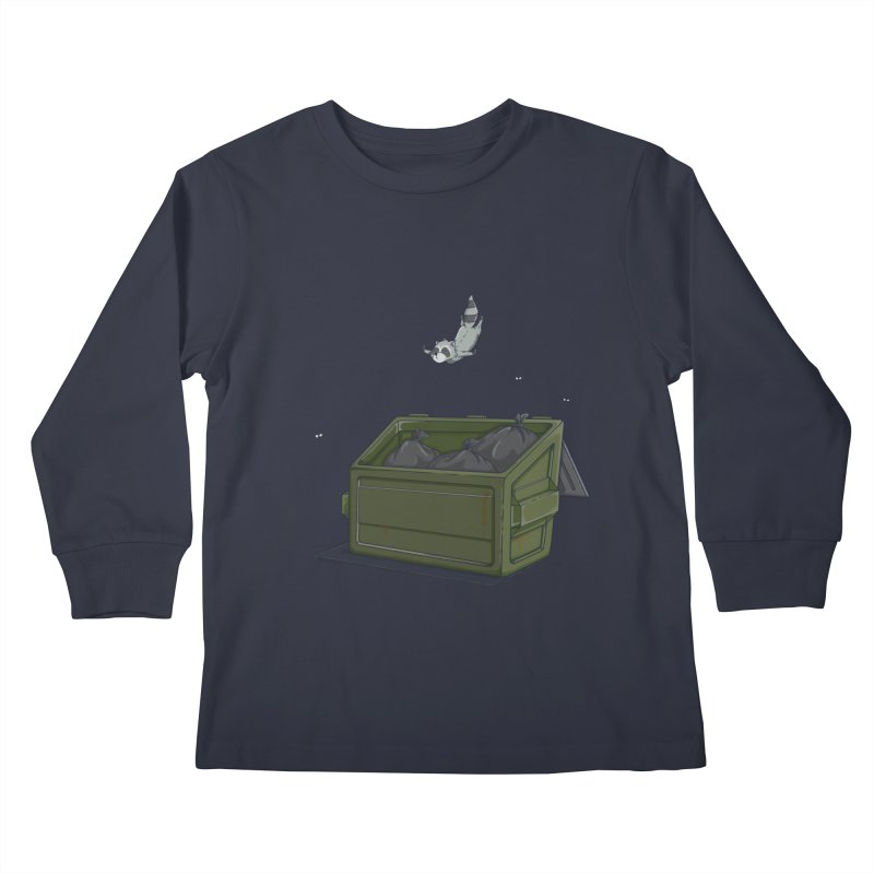 World Class Dumpster Diver Kids Longsleeve T-Shirt by wilbury tees