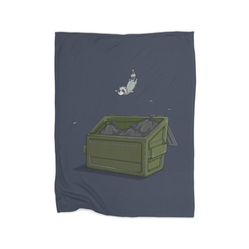 World Class Dumpster Diver Home Blanket by wilbury tees