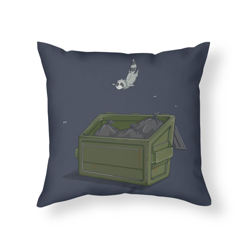 World Class Dumpster Diver Home Throw Pillow by wilbury tees