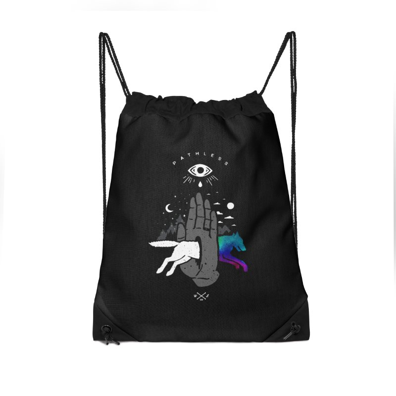 Pathless Accessories Drawstring Bag Bag by wilderlustco's Artist Shop