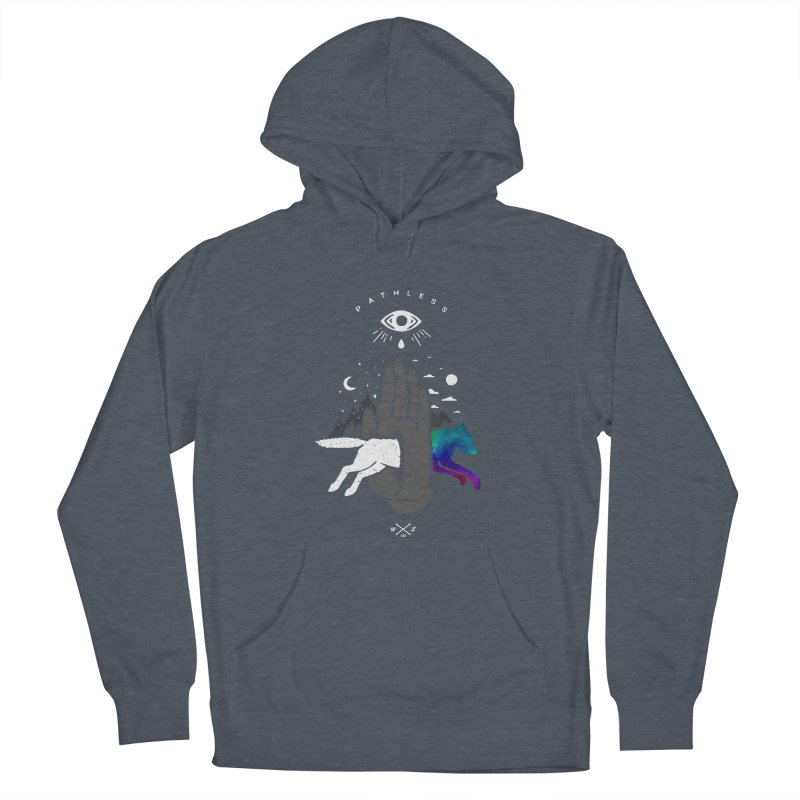 Pathless Men's French Terry Pullover Hoody by wilderlustco's Artist Shop