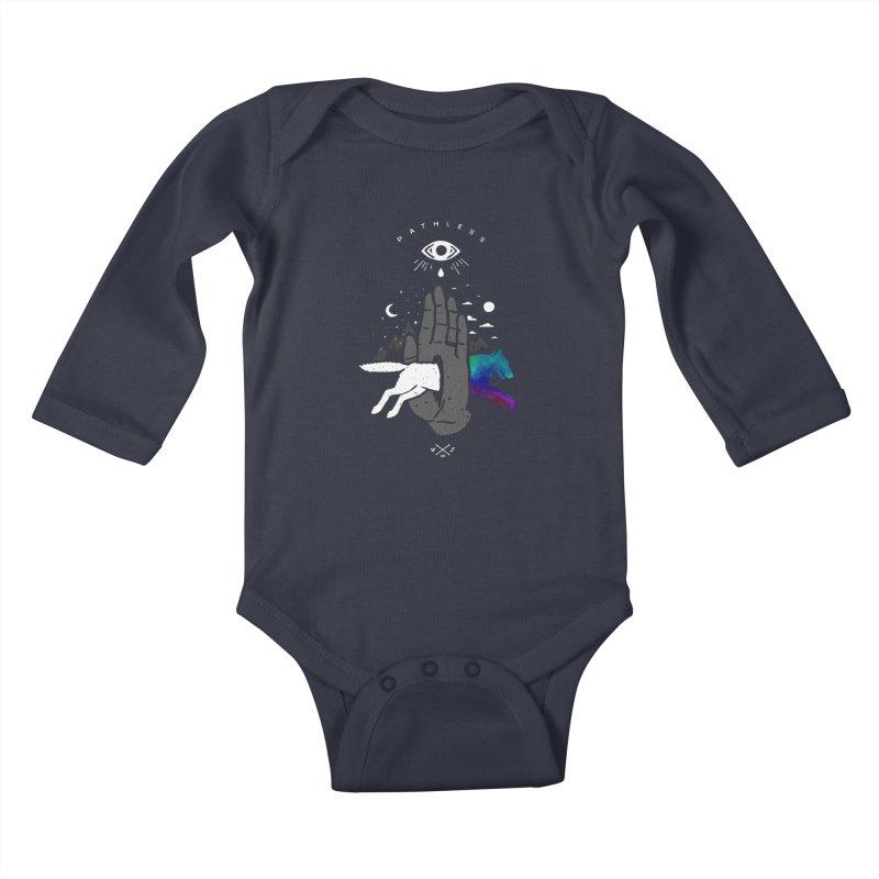 Pathless Kids Baby Longsleeve Bodysuit by wilderlustco's Artist Shop