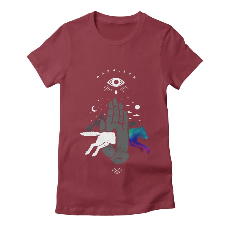 Pathless Women's Fitted T-Shirt by wilderlustco's Artist Shop