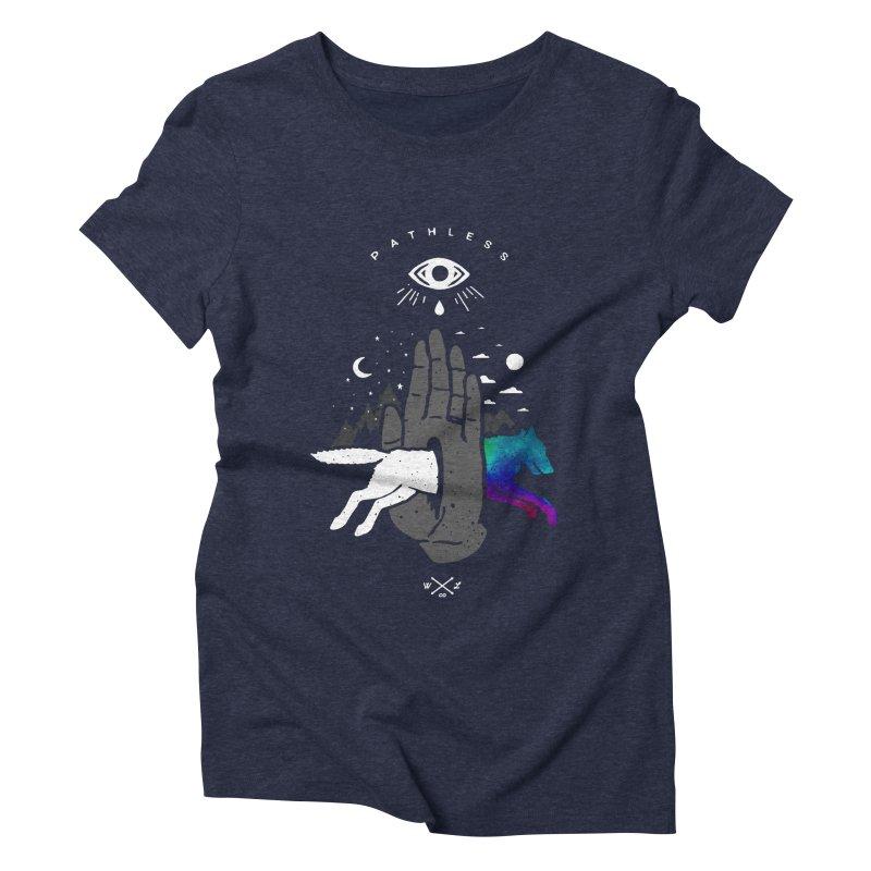 Pathless Women's Triblend T-Shirt by wilderlustco's Artist Shop