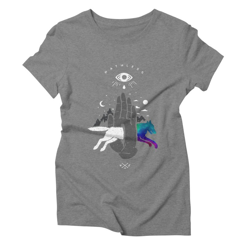 Pathless Women's Triblend T-Shirt by wilderlustco's Artist Shop