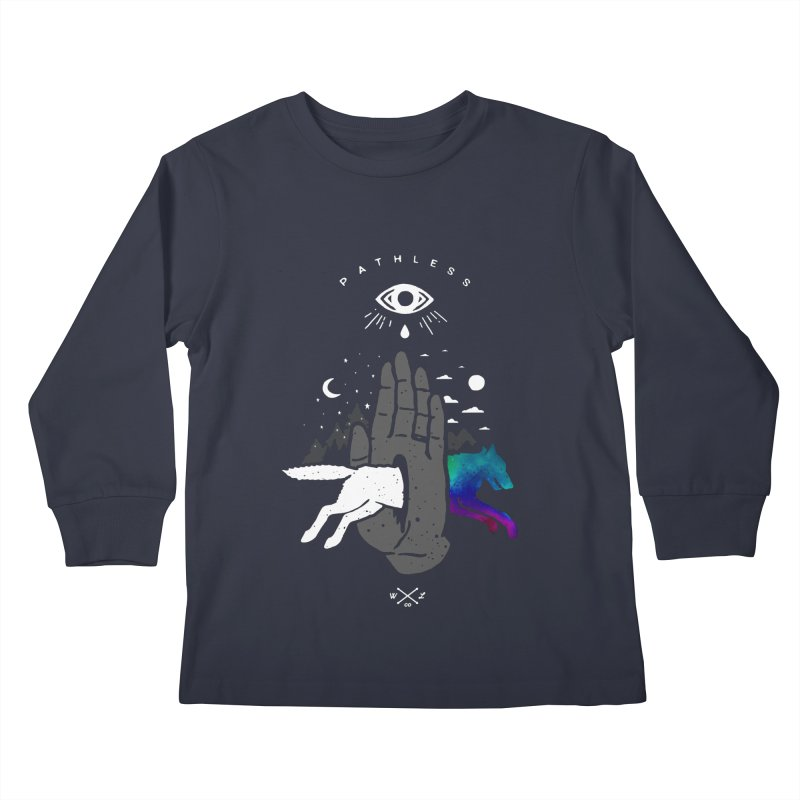 Pathless Kids Longsleeve T-Shirt by wilderlustco's Artist Shop