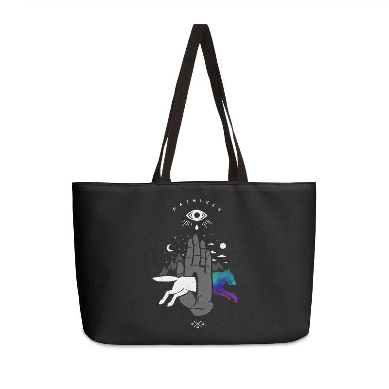 Pathless Accessories Weekender Bag Bag by wilderlustco's Artist Shop