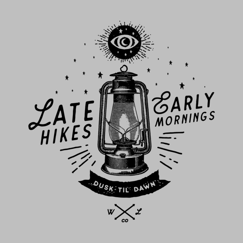 Late Hikes, Early Mornings Women's V-Neck by wilderlustco's Artist Shop