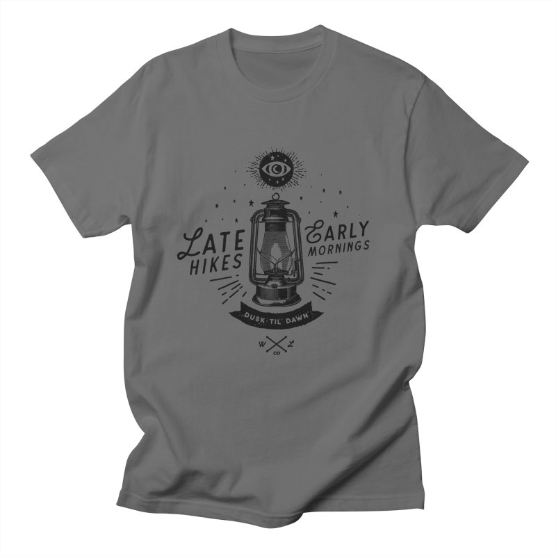 Late Hikes, Early Mornings Men's T-Shirt by wilderlustco's Artist Shop