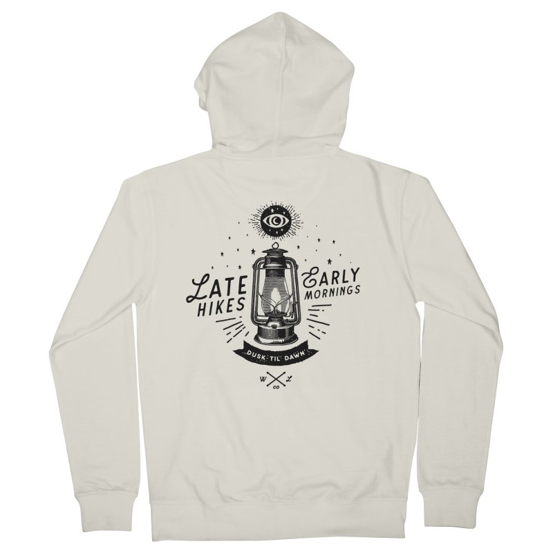 Late Hikes, Early Mornings Women's French Terry Zip-Up Hoody by wilderlustco's Artist Shop