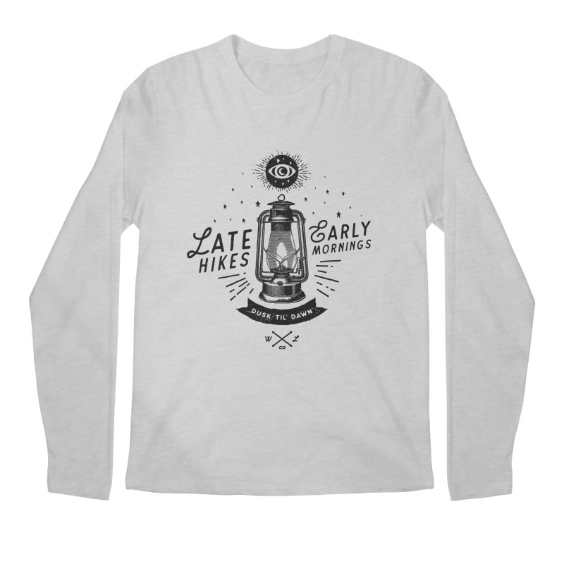 Late Hikes, Early Mornings Men's Regular Longsleeve T-Shirt by wilderlustco's Artist Shop