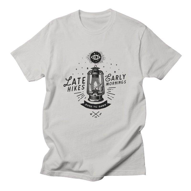 Late Hikes, Early Mornings Women's Regular Unisex T-Shirt by wilderlustco's Artist Shop