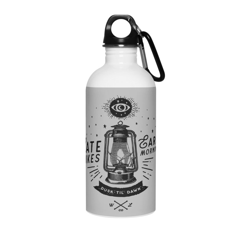 Late Hikes, Early Mornings Accessories Water Bottle by wilderlustco's Artist Shop