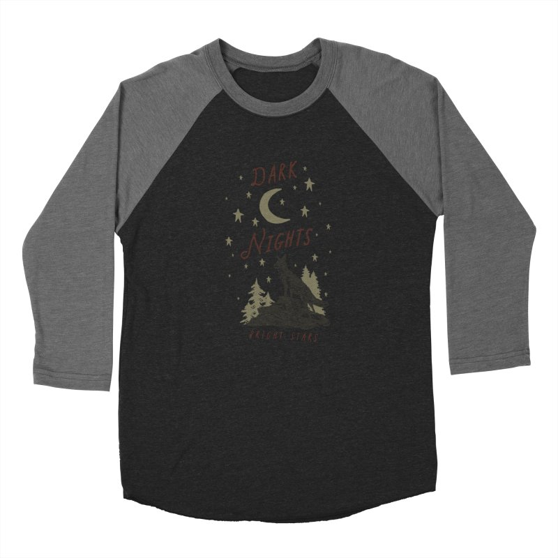 Dark Nights Women's Baseball Triblend Longsleeve T-Shirt by wilderlustco's Artist Shop