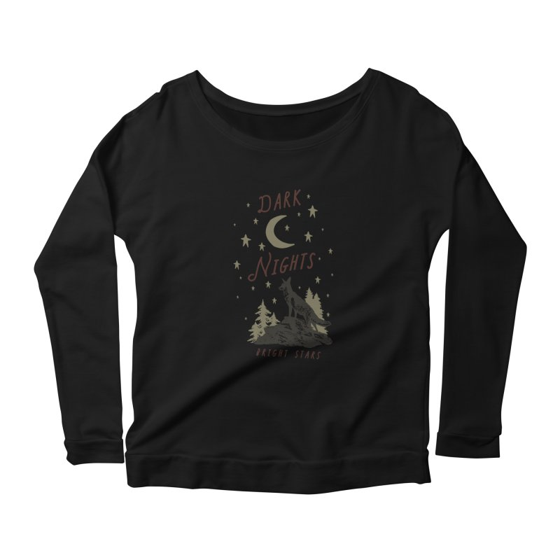 Dark Nights Women's Scoop Neck Longsleeve T-Shirt by wilderlustco's Artist Shop