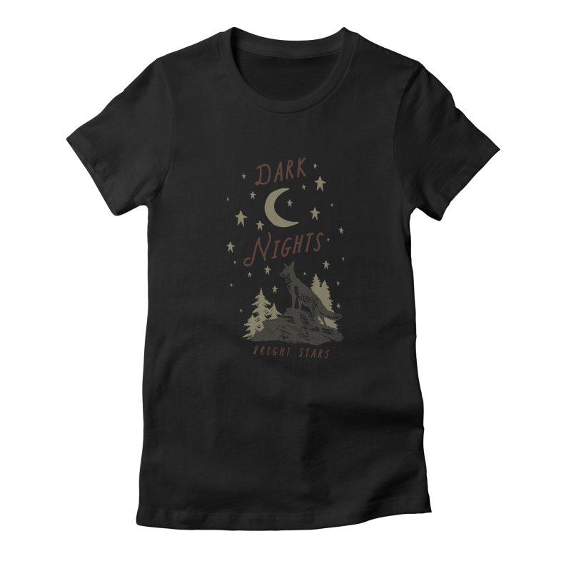 Dark Nights Women's Fitted T-Shirt by wilderlustco's Artist Shop