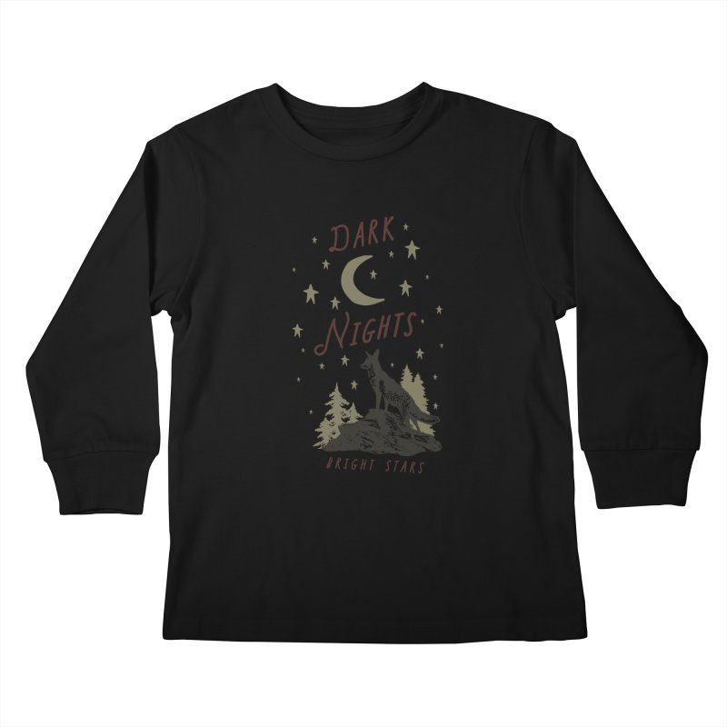 Dark Nights Kids Longsleeve T-Shirt by wilderlustco's Artist Shop