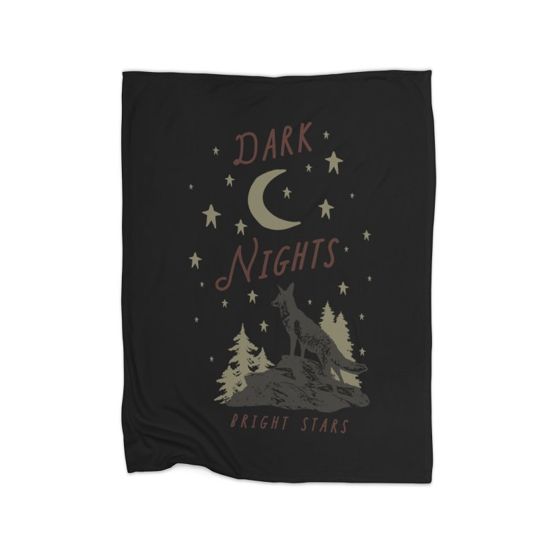 Dark Nights Home Fleece Blanket Blanket by wilderlustco's Artist Shop