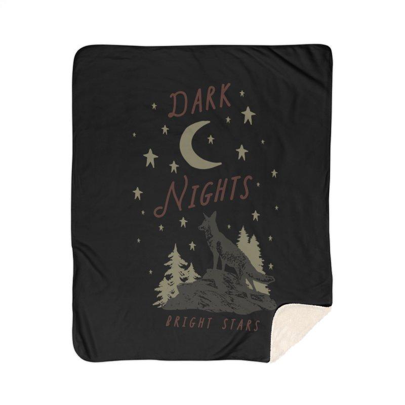 Dark Nights Home Sherpa Blanket Blanket by wilderlustco's Artist Shop
