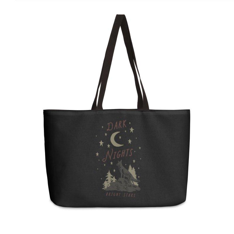 Dark Nights Accessories Weekender Bag Bag by wilderlustco's Artist Shop
