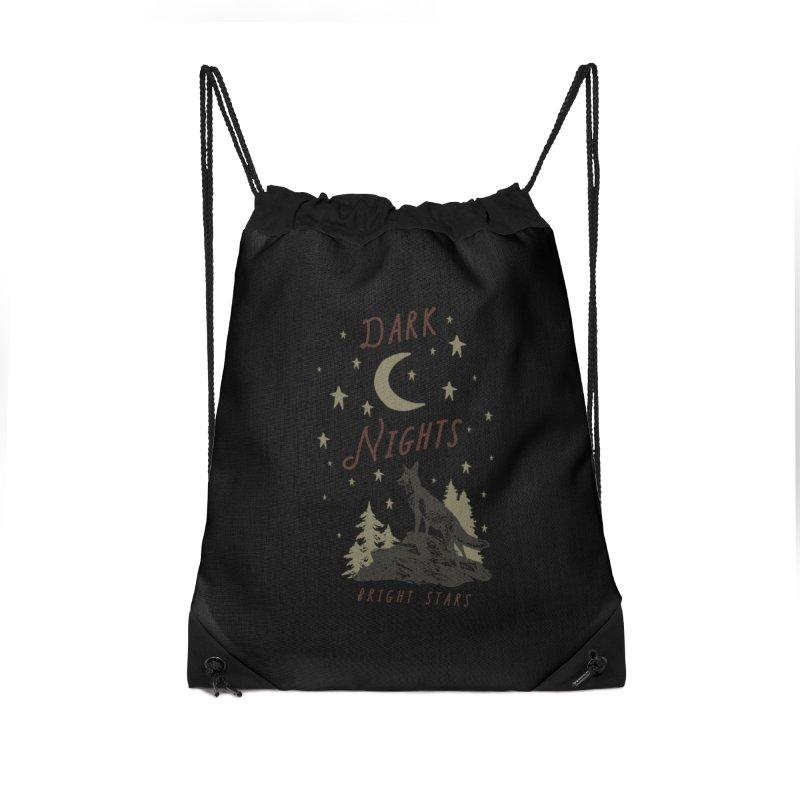 Dark Nights Accessories Drawstring Bag Bag by wilderlustco's Artist Shop