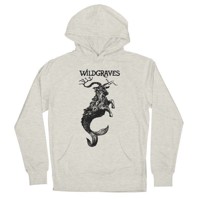 Near Drowning- Black Men's French Terry Pullover Hoody by Wildgraves Merch