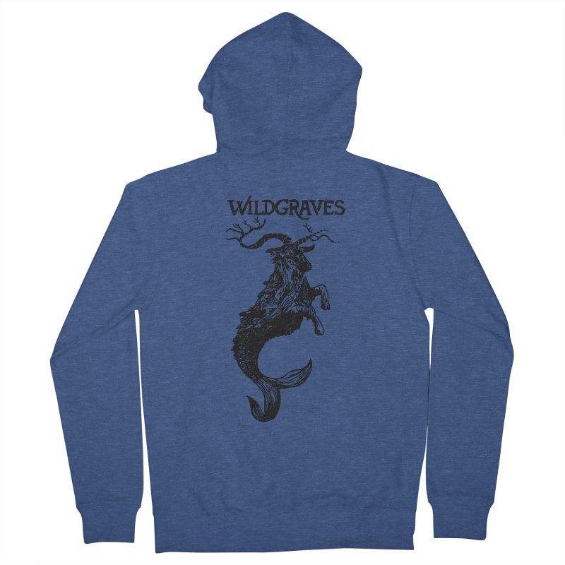 Near Drowning- Black Women's French Terry Zip-Up Hoody by Wildgraves Merch