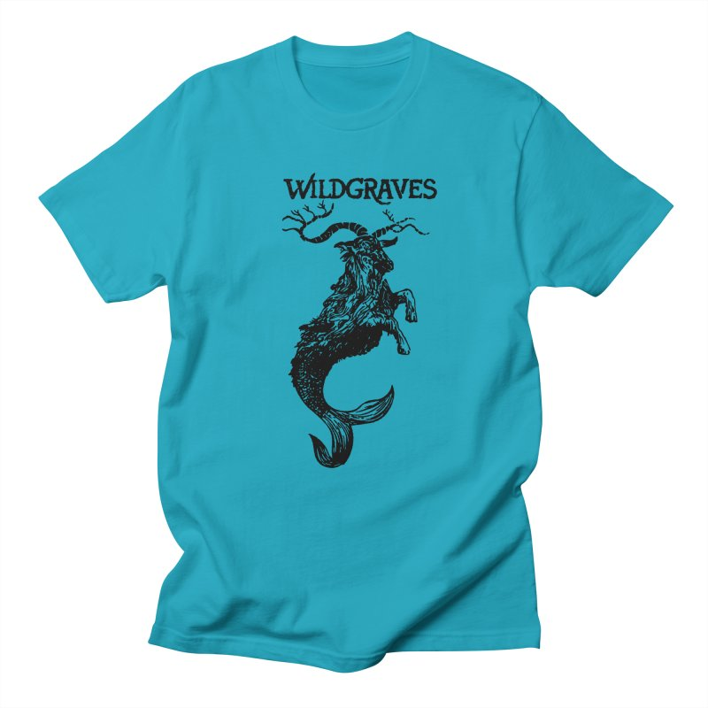Near Drowning- Black Men's Regular T-Shirt by Wildgraves Merch