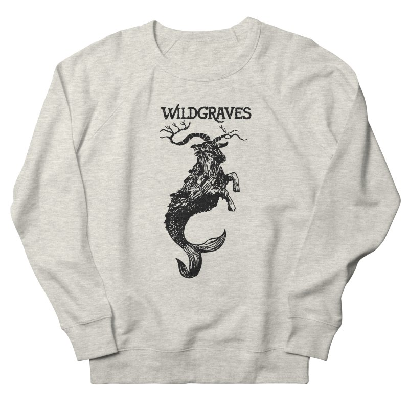 Near Drowning- Black Men's French Terry Sweatshirt by Wildgraves Merch