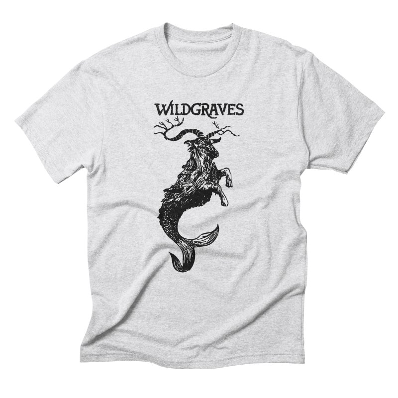 Near Drowning- Black in Men's Triblend T-Shirt Heather White by Wildgraves Merch